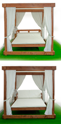 beach pavilion swing bed